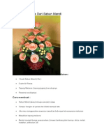Cara Buat Bunga Dari Sabun Mandi