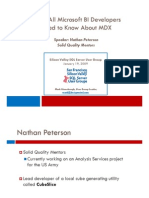 MDX - What BI Developers Need to Know