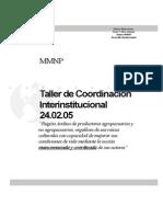 Informe Taller Coord Interinstitucional