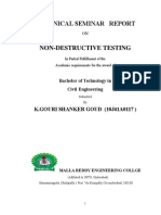 Non-Destructive Testing of Concrete