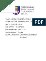 Hbu124 Assignment racun dan keracunan