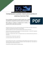 Comprobando La Presión Máxima de La Bomba en Sistemas Common Rail