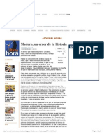 Maduro, Un Error de La Historia, Por ASDRÚBAL AGUIAR