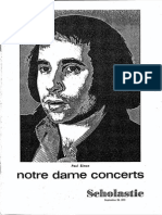 1973 Notre Dame Scholastic Newsletter Concerts Carpenters VOL 0115 ISSUE 0002