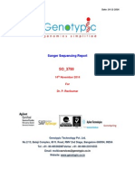 SO 3799 Sanger Sequencing Report
