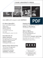 Duke University Press program ad for the International Association for the Study of Popular Music conference 2015
