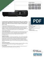 EB S03 Scheda Tecnica Epson proiettore