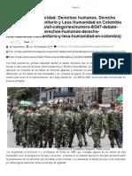Tipicidad, Lesa Humanidad - Argumentos Voces Jurídicas & Literarias Editorial Ibañez Diciembre de 2014