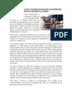 Formas de Produccion y Distribución en Paises Con Diferentes Indices de Desarrollo Humano