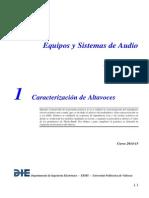 ESA Práctica 1 Caracterización de Altavoces Curso 2014-15 V01