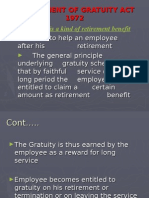 The Payment of Gratuity Act 1972t