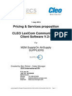 ECS SupplyOn AirSupply Pricing and Services CLEO LexiCom Communication Client v 2 2 July2014