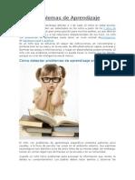 Problemas de Aprendizaje- Como Detectarlos