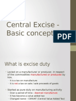 Central Excise 1 - Basic Concepts