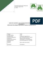 Programa de Derecho Agrario (Curso 2015)