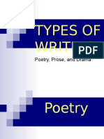 poetry, prose, and drama powerpoint