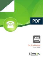 Fax Pro Module-Userguide