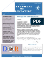 Recreation Dept Winter 2015 Newsletter Final