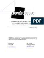 CrowdedSpace - Australian Equity Crowdfundning Policy Submission