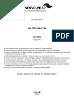 Vunesp 2014 Desenvolvesp Analista Grupo 6 Prova