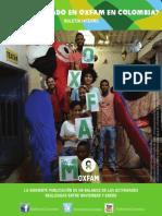 Boletín interno OXFAM en Colombia