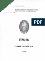 Plan de Estudios 2014-1 FAUA UNI