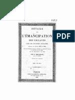 Emencipation des esclaves 1836