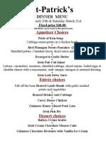 St Patricks Dinner menu 2015.doc