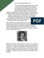 Biografía de Ludwing Van Beethoven