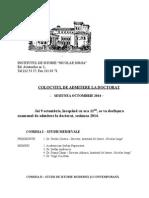 Comisii Admitere Doctorat 2014