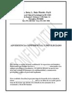 Ejemplo de Informe de Evaluación
