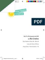 Miolo Catálogo 1ª Feira Favela Criativa 2015