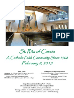 St. Rita Parish Bulletin 2/8/2015