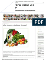 ¿Qué Alimentos Alcalinizan El Cuerpo