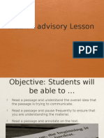 week 4 advisory cahsee lesson