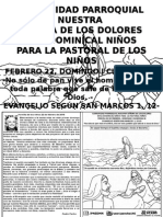 HOJITA EVANGELIO DOMINGO I CUARESMA B BN