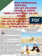HOJITA EVANGELIO DOMINGO I CUARESMA B COLOR