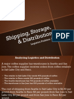 Logistics Problem 19 - Shipping, Storage, & Distribution