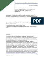 Metabolitos secundarios y actividad antibacteriana in vitro de extractos de hojas de Anacardium occidentale L. (marañón)