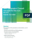 Next Generation Firewall Services for the Asa Eric Kostlan