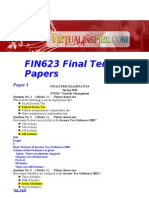 Fin623 Final Term 5 Papers