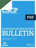 aChain APICS - CSCP Bulletin - Procedimentos para fazer o exame CSCP no Brasil