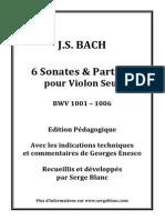 J.S. Bach - Sonates et Partitas - Edition Pédagogique