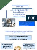 TALLERManejo y Prevención de Accidentes y Enfermedades Ocupacionales 8 HORAS