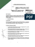 Dictamen de la Comisión de Constitución al Proyecto de LCS