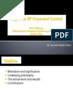 Cognitive RF Front-End Control