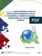 Lineas Orientadoras Para La Educacion Energetica