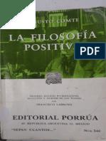 Comte Curso de Filosopfia Positiva