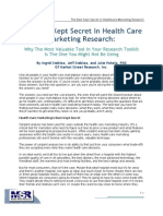 The Best Kept Secret in Healthcare Marketing Research