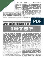 Artículo Atalaya 1969 Acerca Del Año 1975